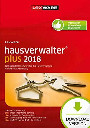 Lexware Hausverwalter Plus Download 2018 für Vermieter & eine professionelle Hausverwaltung – Buchhaltung, Verwaltung, Abrechnungen, Online Banking u.v.m. – Kompatibel mit Windows 7 & aktueller