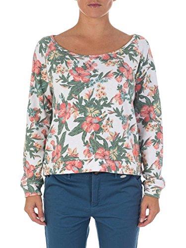 Rip Curl Paradise - Sweat-shirt - À fleurs - Col ras du cou - Manches longues - Femme Multicolore - Mehrfarbig - Multicoloured (White Smoke)