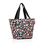 Reisenthel Shopper M Sac de Plage, 51 cm, 15 liters, Multicolore (Happy Flowers)