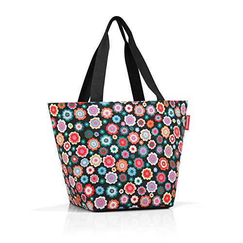 Reisenthel Shopper M Strandtasche, 51 cm, 15 L, Happy Flowers