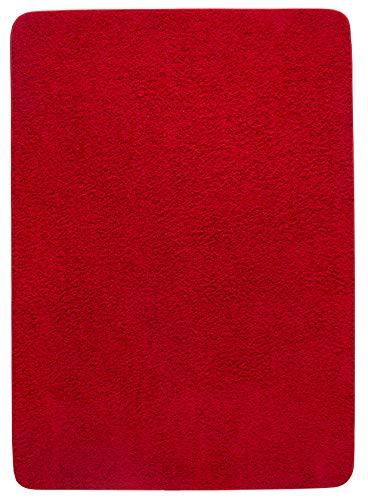 Misento, tappeto a pelo lungo shaggy, rosso (rot), 100 x 150 cm