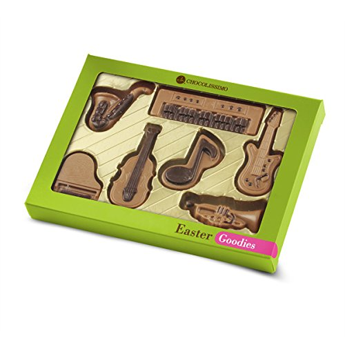 Schokoladiges Musikset - Oster-Edition - Musikinstrumente aus Schokolade | Musik Liebhaber Geschenk | Schoko Musikinstrument | Geschenkidee für Musik liebende | Ostergeschenk (Schokolade Oster)