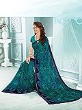 Ankit Fashions Light Blue Georgette Printed Saree
