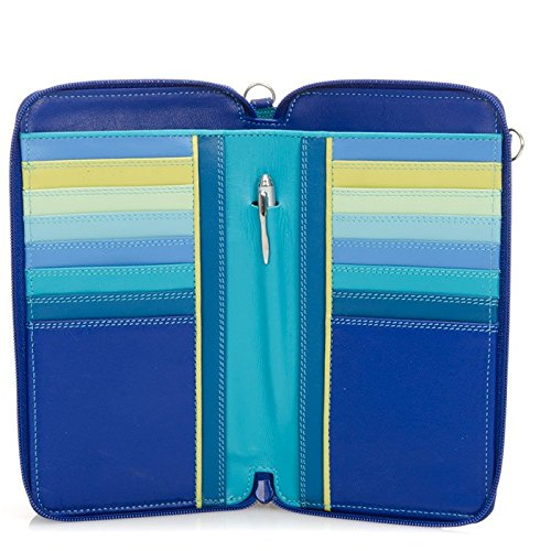 MyWalit Portefeuille Zip en cuir rond multi Sac à bandoulière 1220 Multicolore - Paysage marin