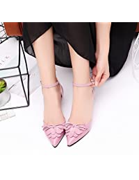 LGK   FA Sommer Damen Sandalen Xia Spitz Tasche mit Seite Air Sandalen Foot  Ring Gurt Schuhe hochhackige… bddb7e4fb1