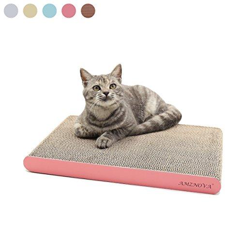 Amznova tiragraffi per gatti cartone ondulato, graffiatoio riciclabile gatto graffia albero giocattolo gatti, grande, rosa