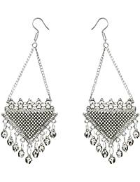 Kiyara Accessories Fashion Jewellery Traditional, Tribal, Triangle, Pyramid, Long Chain, Silver Plating Alloy...