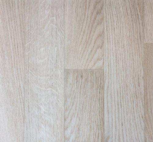 PVC Vinyl-Bodenbelag in weiß-beige rustikale Esche   PVC-Belag verfügbar in der Breite 2 m & in der Länge 3,5 m   CV-Boden wird in benötigter Größe als Meterware geliefert   rutschhemmend