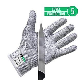 Twinzee® Schnittschutz-Handschuhe (1 Paar) – Extra Starker Level 5 Schutz, EN-388 Zertifiziert, Lebensmittelecht – Hochwertig und Leicht, für alle Zwecke - Perfekte Passform (Medium)