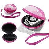 """Stylebitz / Étui coquillage """"tenue de camouflage"""" lecteur MP3 avec fermeture Zip, poche intérieure, extérieur rigide pour Apple iPod Shuffle 2è / 3è/ 4è Génération avec chiffon de nettoyage Stylebitz (rose)"""