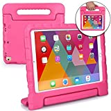 iPad Pro 10.5 case, COOPER DYNAMO Rugged Heavy Duty Children's Boys Girls Drop Proof Protective Carry Case Cover Handle, Stand & Protector (Pink)