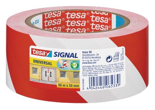 tesa-markierungs-und-warnklebeband-rot-weiss-66m-x-50mm
