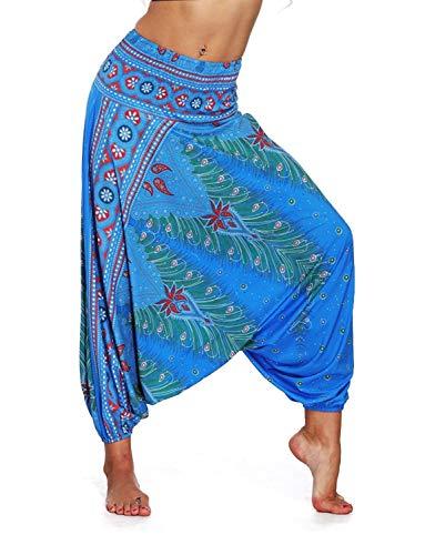 Women Casual Summer Loose Yoga Trousers Ladies Baggy Boho Aladdin Jumpsuit Harem Pants #06 -