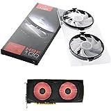 XFX MA-AP01-RLED Tarjeta de video Ventilador - Ventilador de PC (Tarjeta de video, Ventilador, 9 cm, 2 fan(s), AMD Radeon™ RX, Negro, Color blanco)