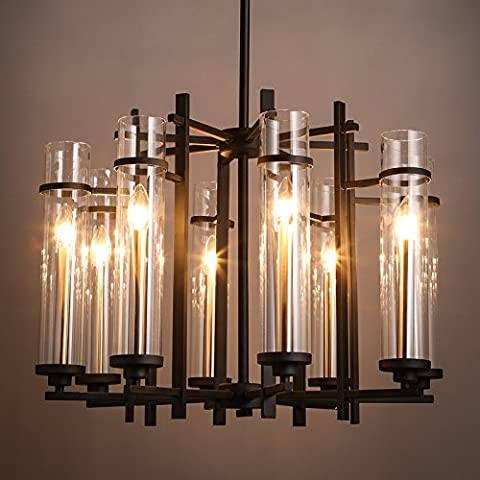 KHSKX American retrò coda lampadine candela candelabri lampadario lampada vintage nuovo ristorante cinese lampadario 560*450mm , bianco caldo