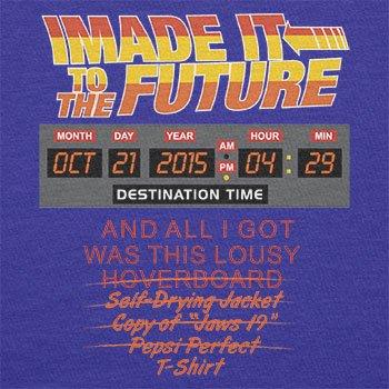 NERDO - I made it to the Future - Damen T-Shirt Marine