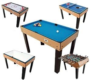 Billard table multi jeux 12 en 1 riley jeux - Table multi jeux enfant ...