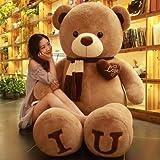 CGDZ Plus Size Teddy bearkin Sweet Heart American Giant Bear Cappotto Peluche Orso Bruno Fai da Te Giocattoli per Bambini Regalo di Compleanno Un 120 cm