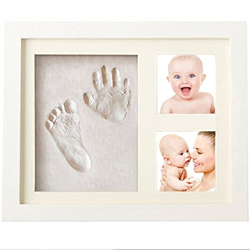 Baby Handprint and Footprint Picture Frame for
