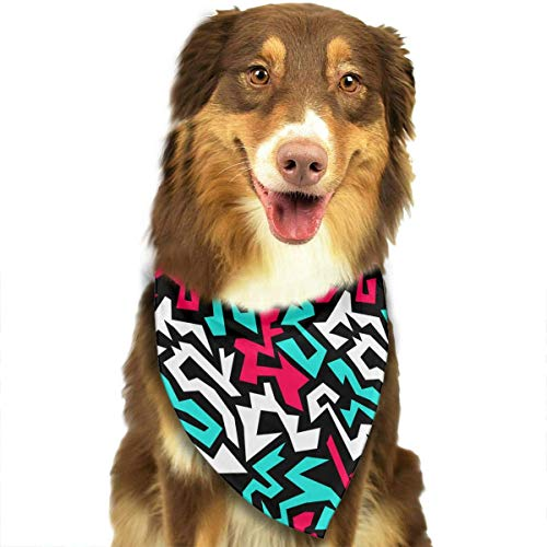 Sdltkhy Graffiti Geometry Seamless Pattern Fashion Dog Bandana Haustierzubehör Easy Wash Scarf Handmade Crochet Mode
