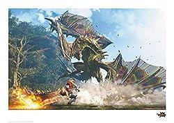 Monster Hunter Generations Art Print Astalos 42 x 30 cm Iron Publishing Poster Wall Scrolls