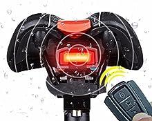 outerdo 3en 1bicicleta Wireless luz trasera bicicleta mando a distancia Alarma Antirrobo Posición fija Mountain Bike Smart Bell de COB de terminación de luz USB de carga de