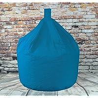 Childrens Bean Bags Teal 100% Cotton Fire Retardant Kids Bean Bag 50cm Wide x 62cm High Approx 3 Cubic Foot