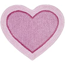 Catherine Lansfield - alfombra rosa con forma de corazón