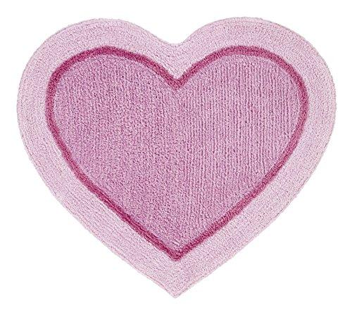 Catherine Lansfield corazón de los niños alfombra, Rosa
