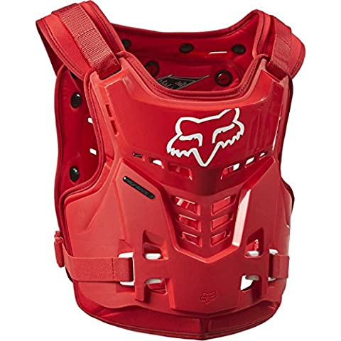Pettorina Motocross Bambino Fox 2016 Proframe Lc Roost Deflector Rosso (Default , Rosso)