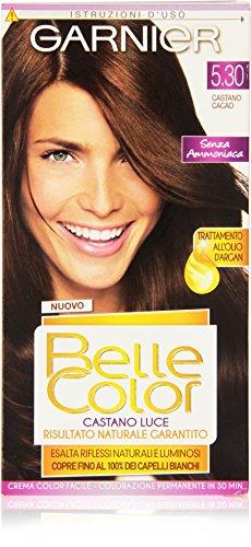 teinture pour les cheveux couleur permanent belle color luce 5,30 brun cacao