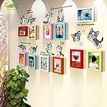 Fotos * 11Buzón 7pulgadas massivholzrahmen Combinación pared Home Decor Dormitorio Salón Fotográfico Wall de caja, 6de color Mix and Match Group