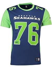 Majestic T-Shirt – NFL Seattle Seahawks Dene Poly Mesh Blue Green 31b668718