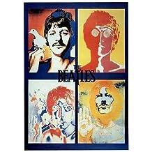 (24x 36) The Beatles cuatro caras Pop Arte por Richard Avedon Póster de música impresión