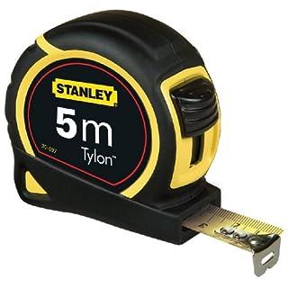 Stanley 1-30-697 Rubans à mesurer bi-matière, 5 m x 19 mm, Noir/Jaune