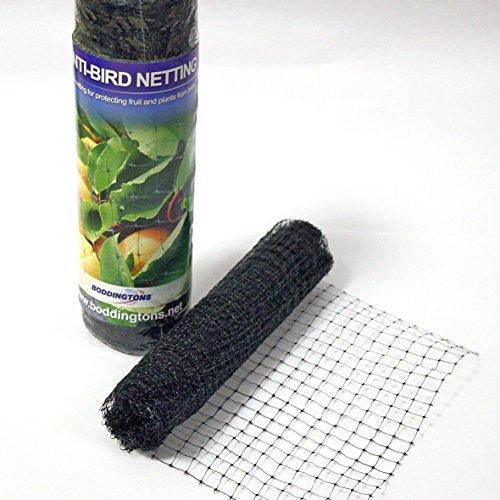 Vogelschutznetz Teichnetz Kunststoffnetz 2 x 10m (10 x 12mm) schwarz