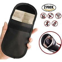 2x coche clave, bloqueador de señal de entrada sin llave Fob Protector Bolsa de bloqueo de señal y radiación GPS Tracker blindaje bolsa, bloqueador de RFID