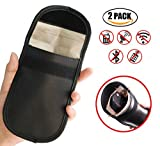 Faraday-Tasche für Autoschlüssel, blockiert Signale und bietet Schutz der Privatsphäre bei Handys, 2 Stück
