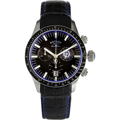 Rotary GS90048/04 - Reloj para hombres, correa de cuero