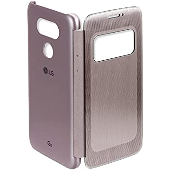 SmartLike WINDOW SENSOR Leather Flip Cover for LG G5 GOLD