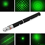 Mobhada Green Laser Disco Pointer Pen Beam with Adjustable Cap to Change Project