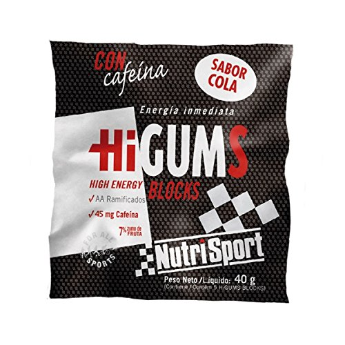 Nutrisport Higums Blocks 10 enveloppes (50 Gelées) 40g Cola et Caféine