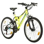 """51qPnrs5qtL. SS150 Bikesport Parallax 24"""" Bicicletta Biammortizzata Doppia Sospensione"""