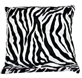 FORTISLINE Deko-Kissen 40x40 Animal Fellimitat Zebra W008