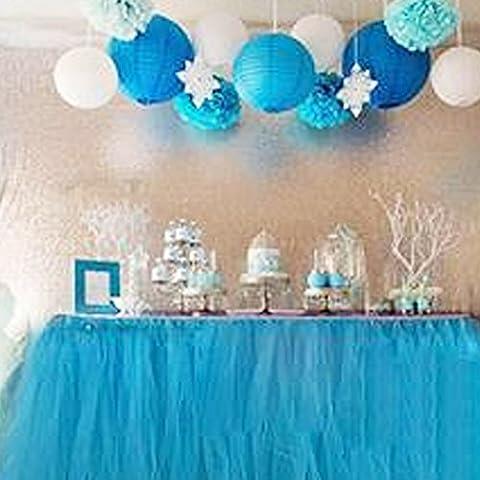 Table Skirt, Romantic Tulle desk gauze, Table Decoration, Snowflake Wonderland