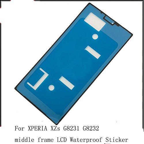 1x LCD Display Front Panel Rahmen Wasserdicht Aufkleber Klebeband für Sony Xperia XT XZS, XZs