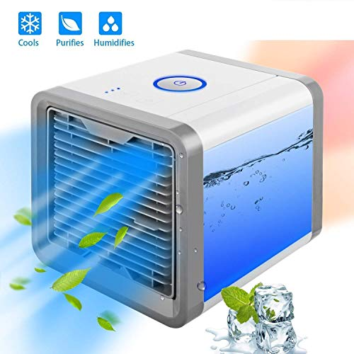 TryoKart Mini Portable Air Cooler Fan Arctic Air Personal Space Cooler The Quick & Easy Way to Cool Any Space Air Conditioner Device Home