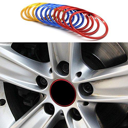 Cogeek Lot de 4 pneus Roues Roue Circle Coque Bordure Convient pour série 1 3 5 X1 X3 X4 X5 X6 Roue Stickers Car Styling