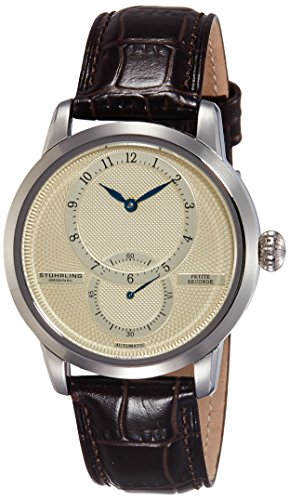 51qPqImh37L - Stuhrling Original Champagne Mens 766.01 watch