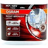 OSRAM NIGHT BREAKER LASER H7, halogen headlamp, 64210NBL-HCB, 12 V passenger car, duobox (2 units)
